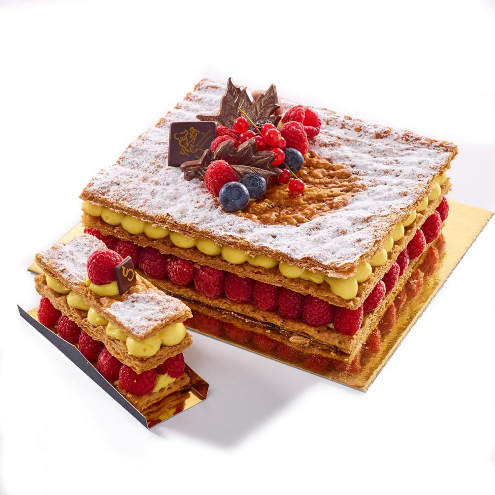 Millefeuille framboise