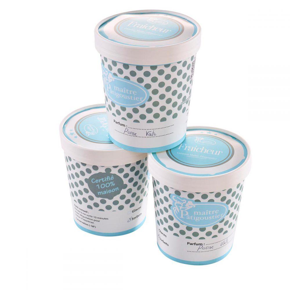 Demi litre de glace ou sorbet